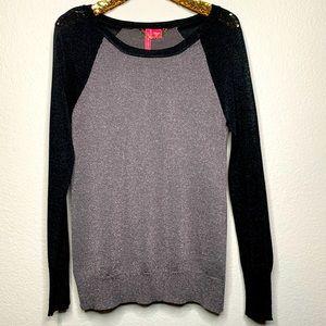 Charlotte Sparkle Black and Slate Shimmer Sweater